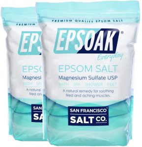 Epsoak Epsom Salt Magnesium salt review for sitz bath for hemorrhoids. Epsom salt benefits for hemorrhoids.